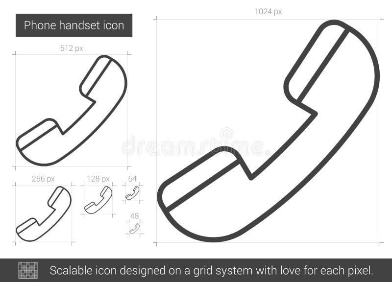Telefontelefonlurlinje symbol royaltyfri illustrationer
