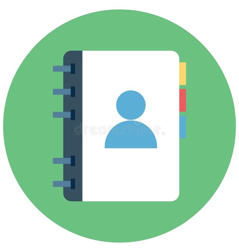Telefonu Adresowy kolor Odizolowywał Wektorową ikonę Która może być łatwo redaguje lub modyfikuje ilustracja wektor