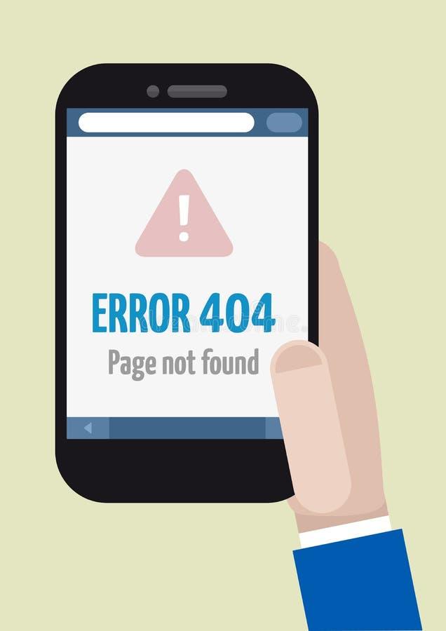 Telefonu błąd 404 ilustracja wektor