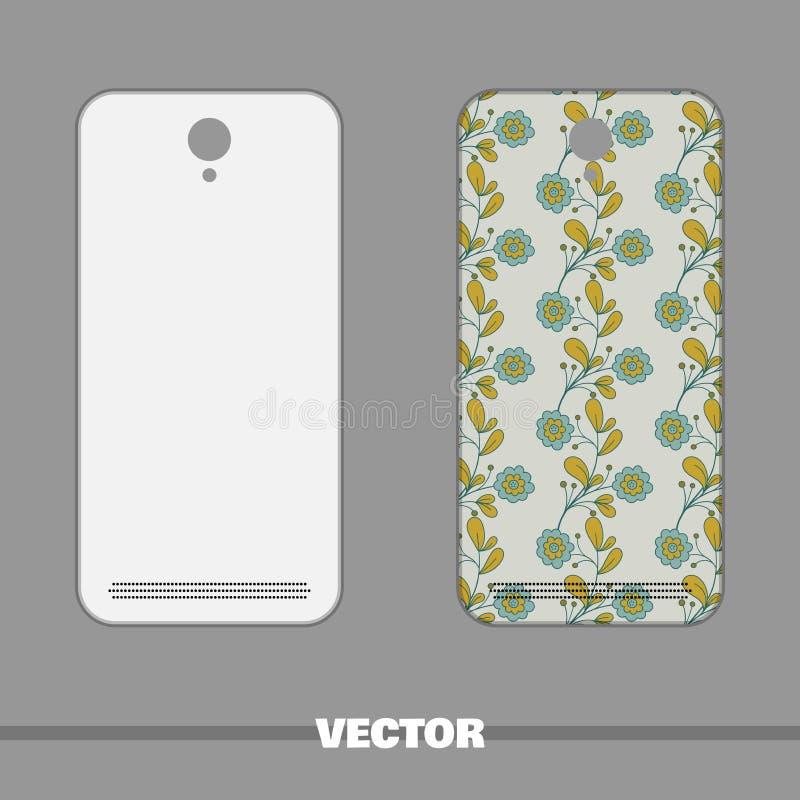 Telefonu błękita Okładkowi kwiaty ilustracji