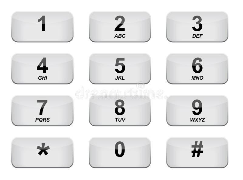 telefonu klawiaturowy biel royalty ilustracja
