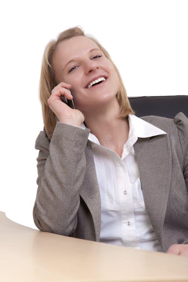 telefonu kobiety potomstwa zdjęcia stock