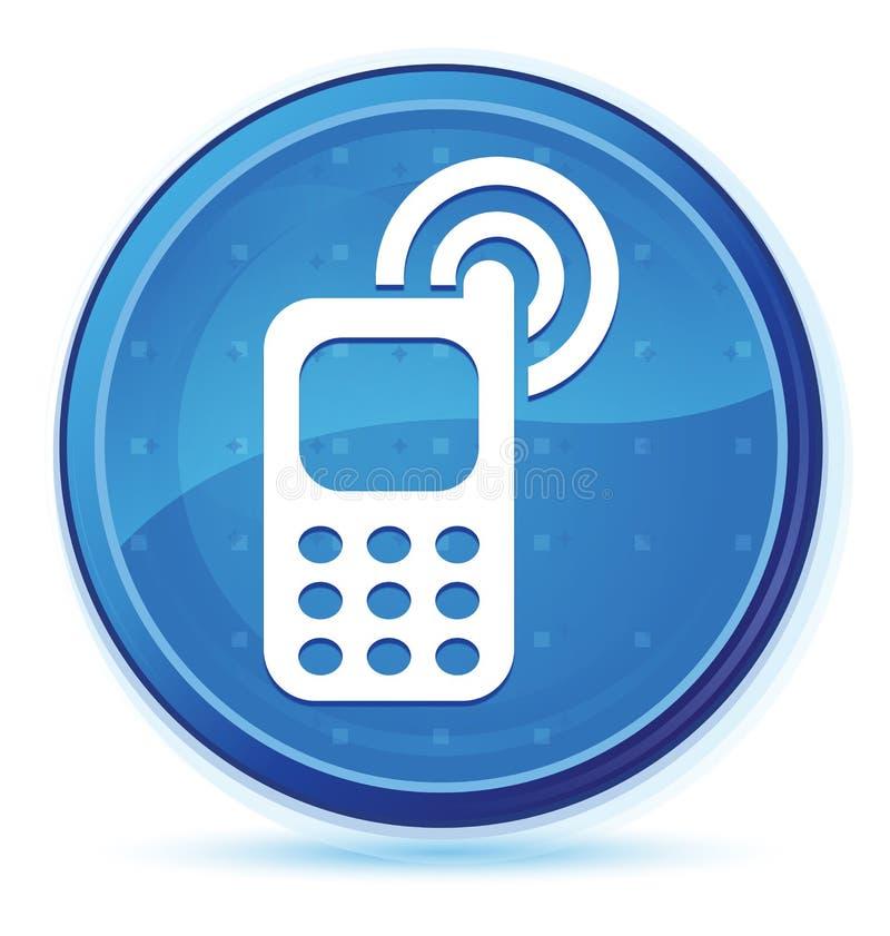 Telefonu komórkowego dzwonienia ikony północy round błękitny pierwszorzędny guzik ilustracja wektor