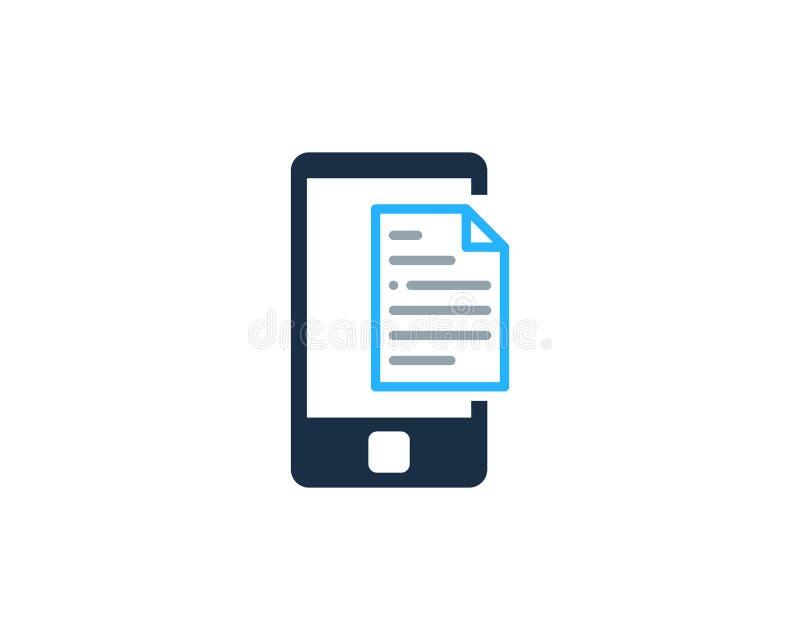 Telefonu Komórkowego dokumentu ikony loga projekta element ilustracja wektor