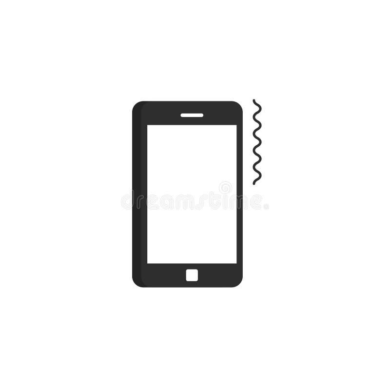 Telefonu komórkowego dzwonienia ikony wektor, pierścionek smartphone piktogram, rozedrga royalty ilustracja