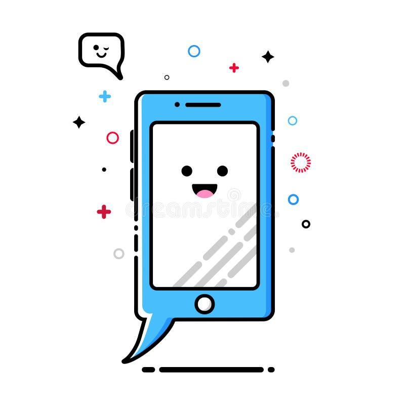 Telefonu komórkowego MBE stylu kawaii ikona ilustracji