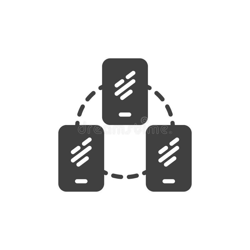 Telefonu komórkowego serweru podłączeniowa wektorowa ikona ilustracja wektor