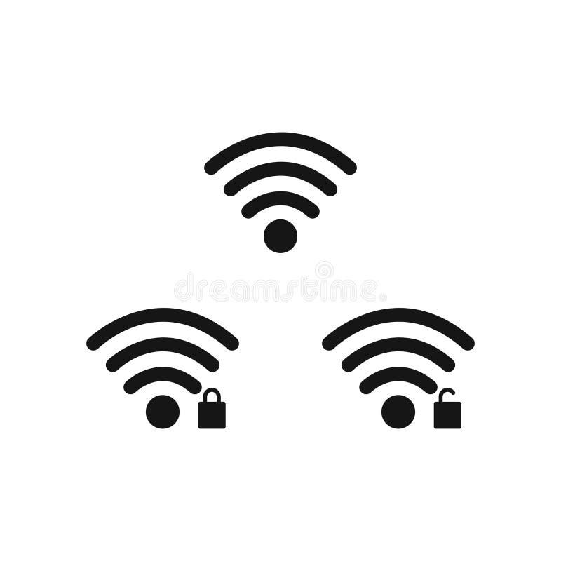 Telefonu komórkowego systemu ikony Wifi sygnałowa siła, bateryjny ładunku poziom również zwrócić corel ilustracji wektora ilustracja wektor