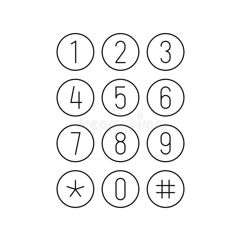 Telefonu lub kalkulatora klawiatura Smartphone interfejsu ekran Round zapina klawiaturę royalty ilustracja