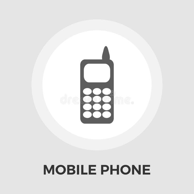 Telefonu mieszkania ikona royalty ilustracja