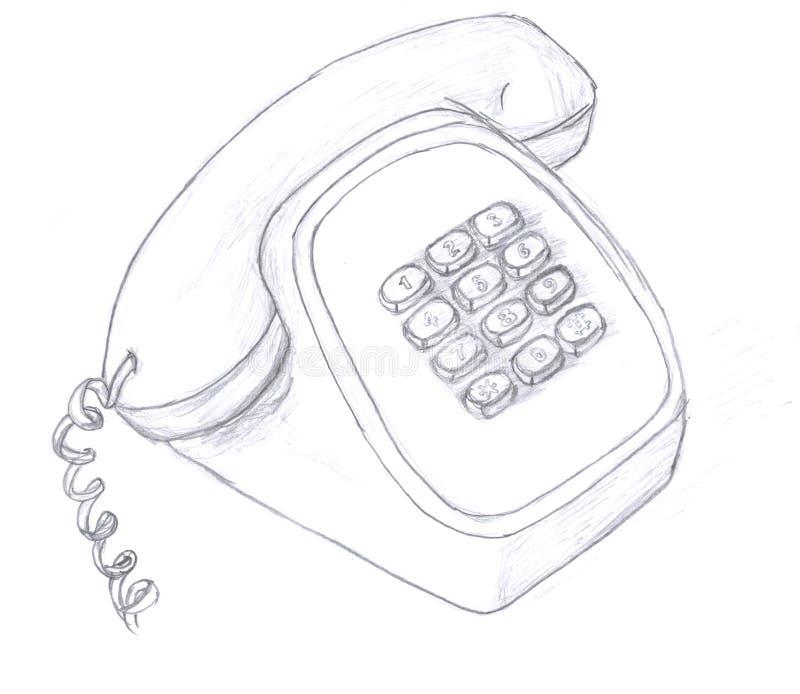 telefonu nakreślenie royalty ilustracja
