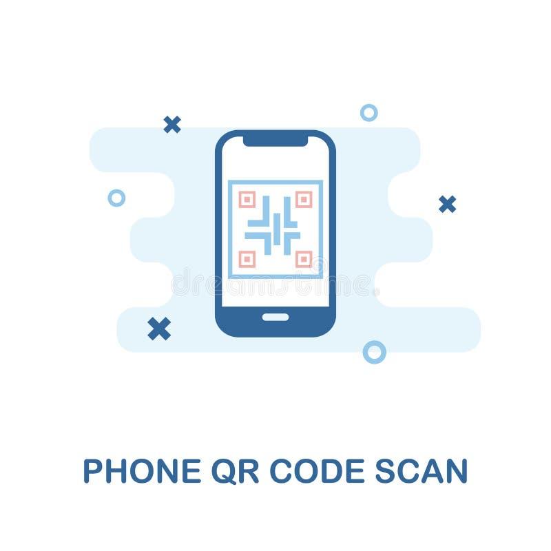 Telefonu Qr kodu obrazu cyfrowego ikona Prosta element ilustracja Telefonu Qr kodu obrazu cyfrowego ikony piksel doskonalić proje ilustracji