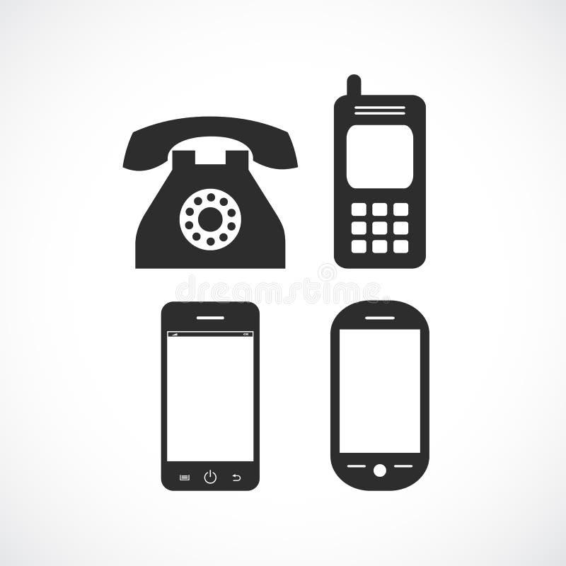 Telefonu wektoru ikona royalty ilustracja