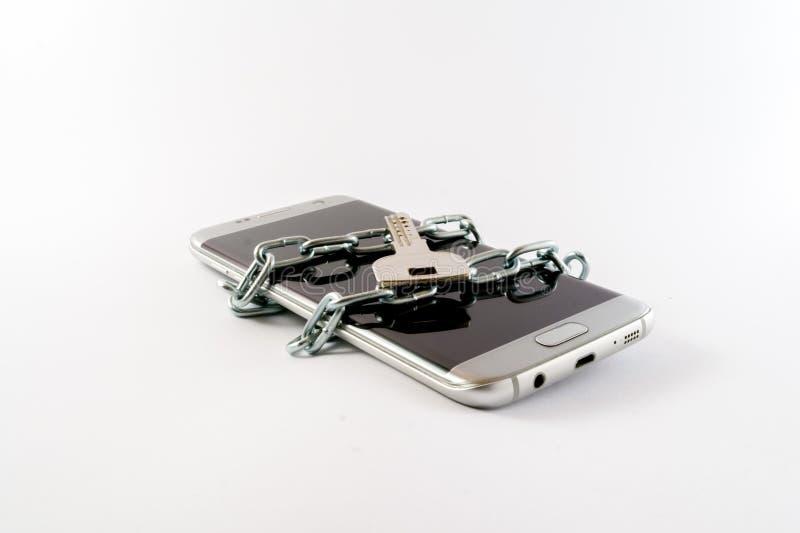 Telefonverschluß mit Hauptschlüssel stockfotografie