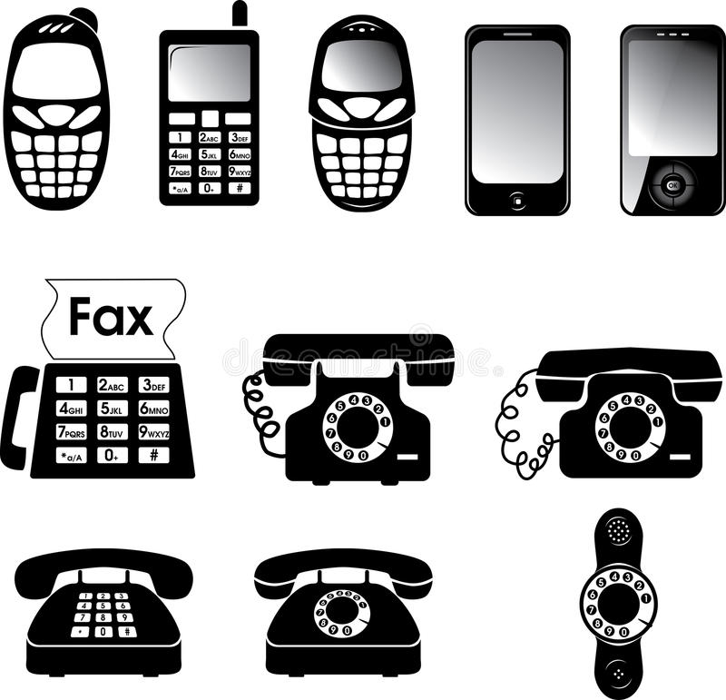 telefony ilustracji
