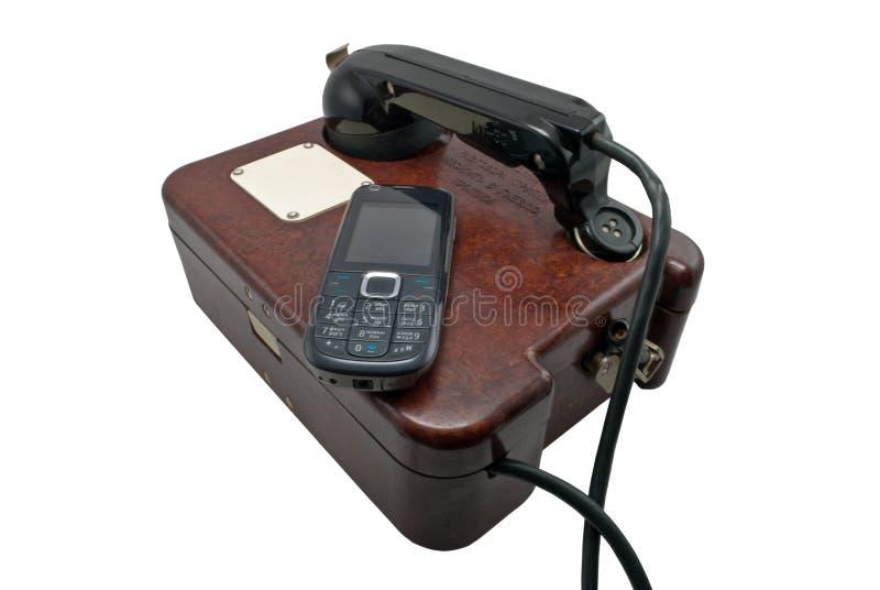 telefony dwa obraz royalty free