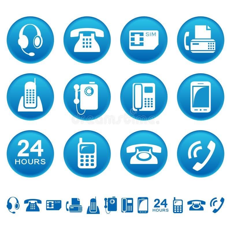 Telefony i faks ikony royalty ilustracja