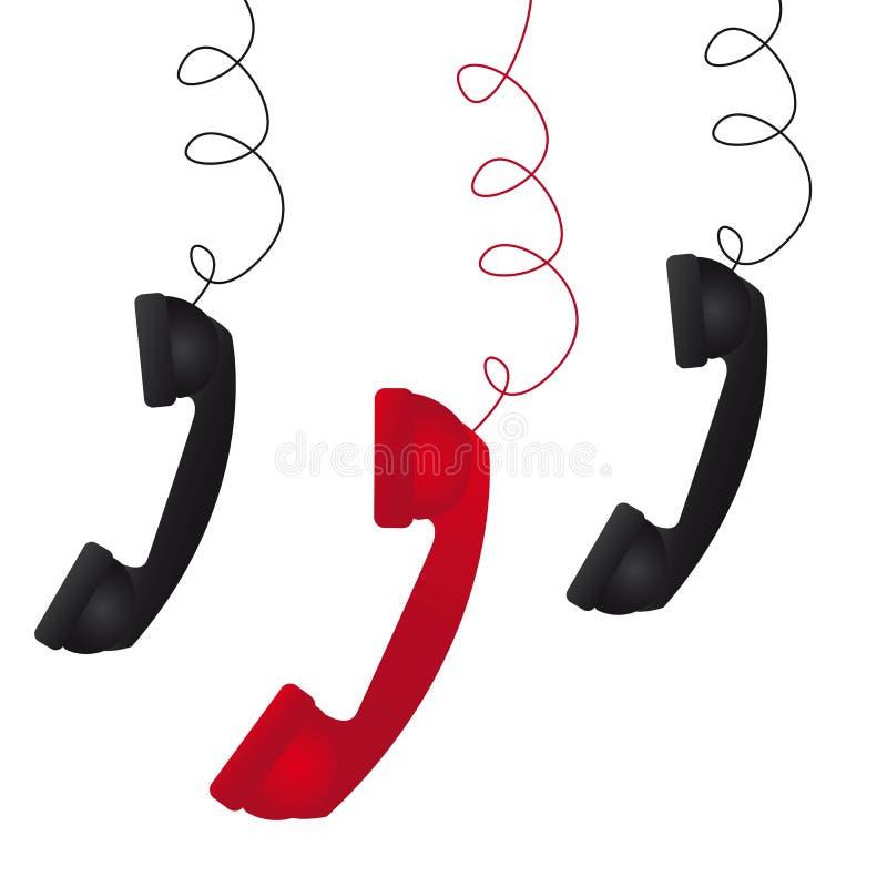 Telefoon drie stock illustratie