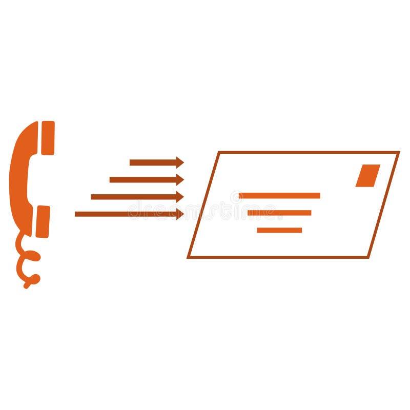 Telefoon en brievensymbolen stock illustratie