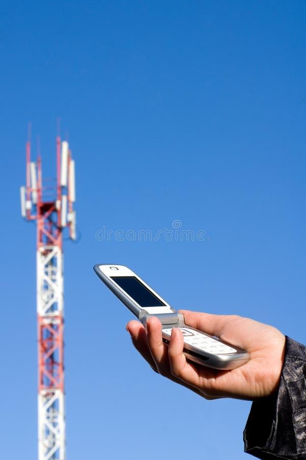 Telefoon en GSM post stock foto