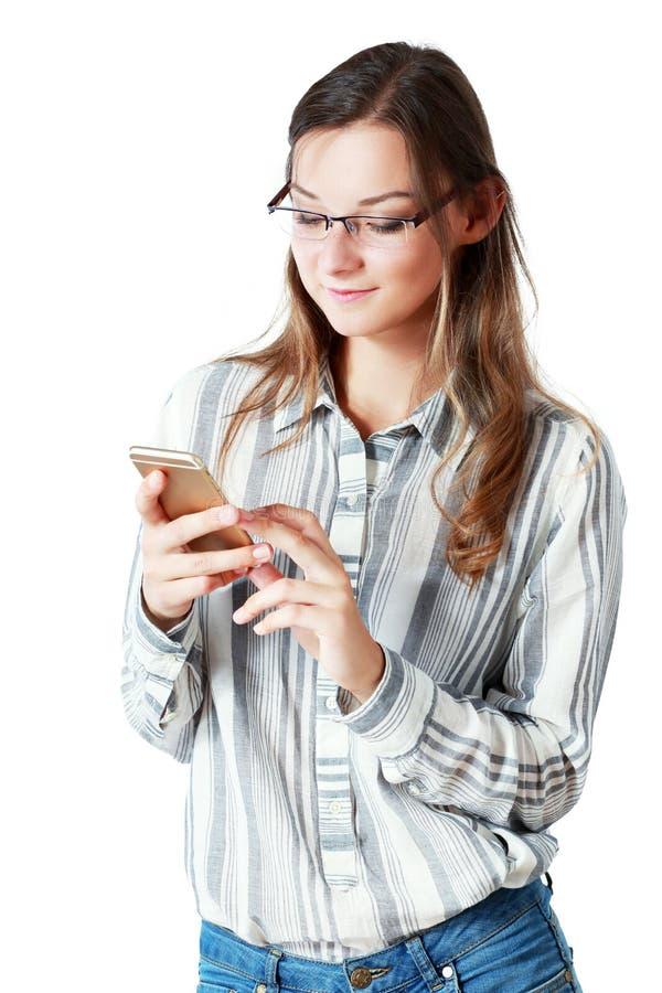 Telefoon goed nieuws stock foto's
