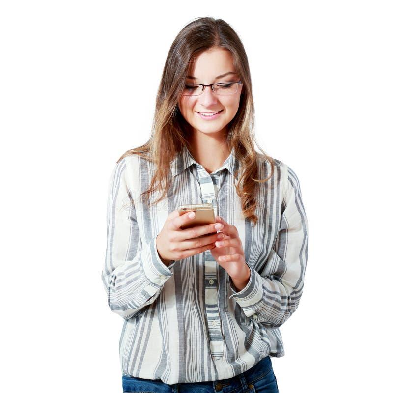 Telefoon goed nieuws royalty-vrije stock fotografie