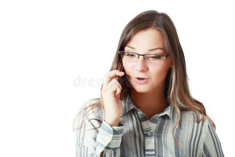 Telefoon goed nieuws royalty-vrije stock afbeelding