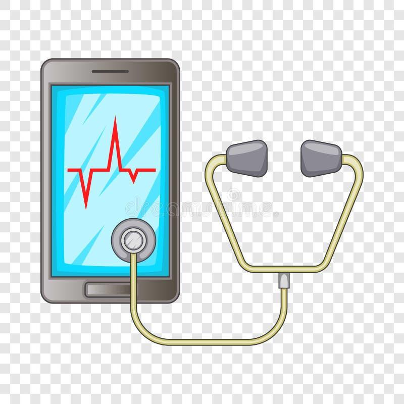 Telefoon kenmerkend pictogram, beeldverhaalstijl stock illustratie