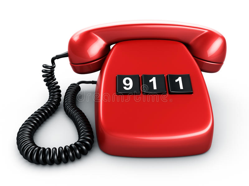 Telefoon met één knoop stock illustratie