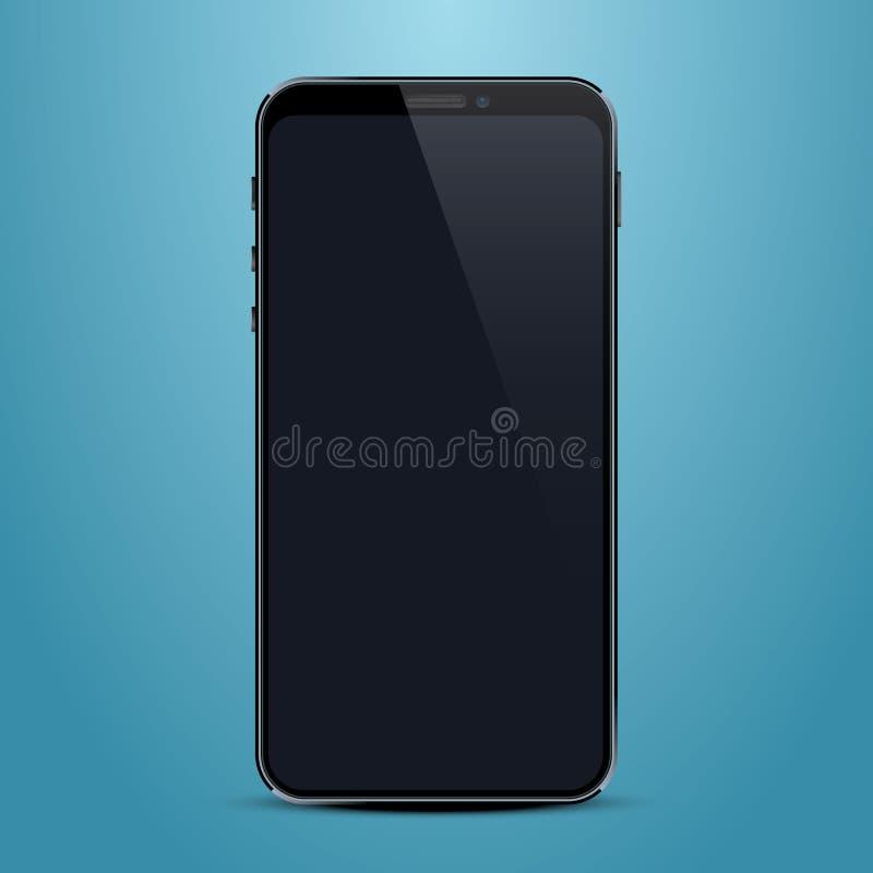 Telefoon met het zwart scherm, objecten elektronika stock illustratie