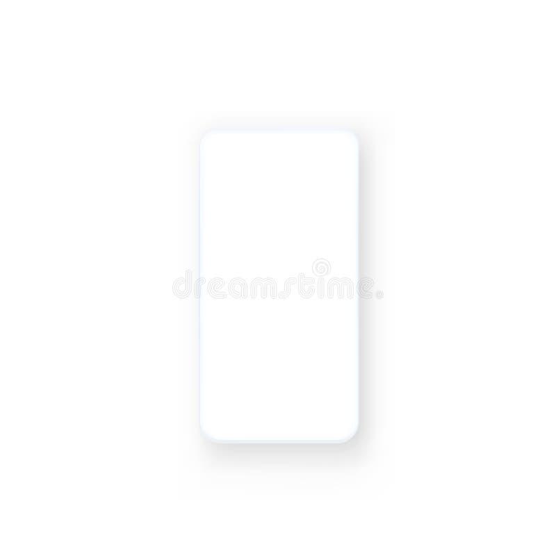 Telefoon met het zwart scherm, objecten elektronika royalty-vrije illustratie