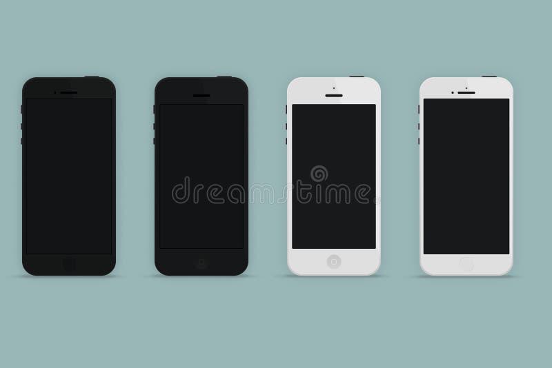 Telefoon 5, 5s stock illustratie