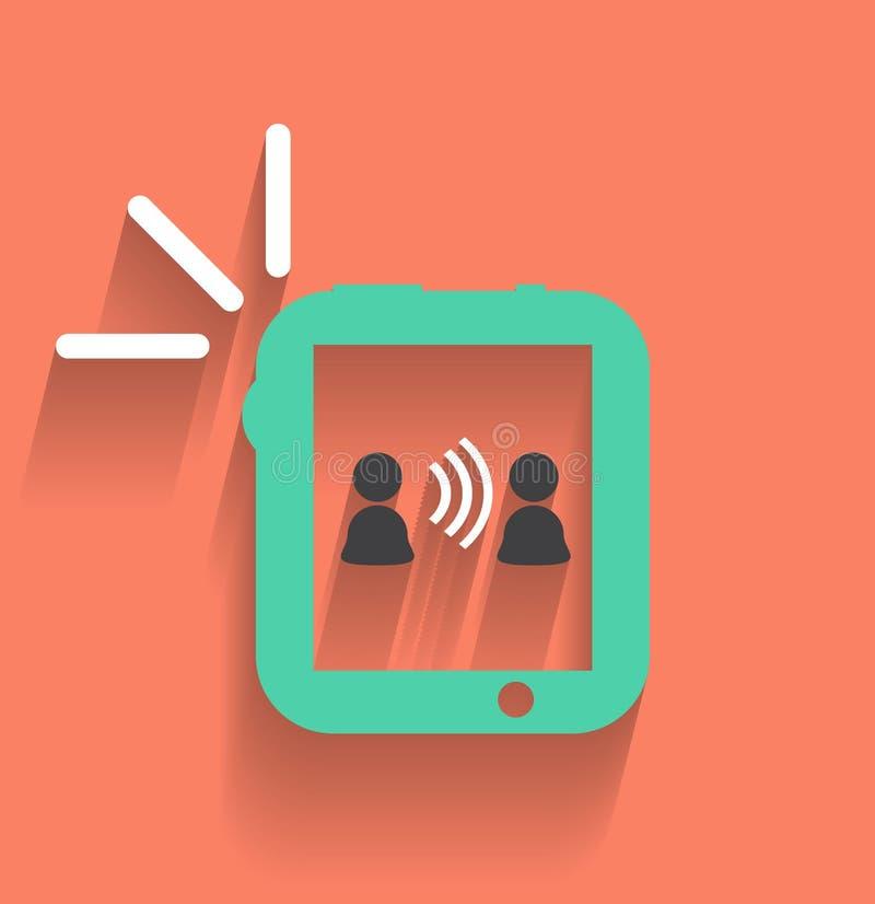 Telefoon/tablet communicatie pictogram vector illustratie