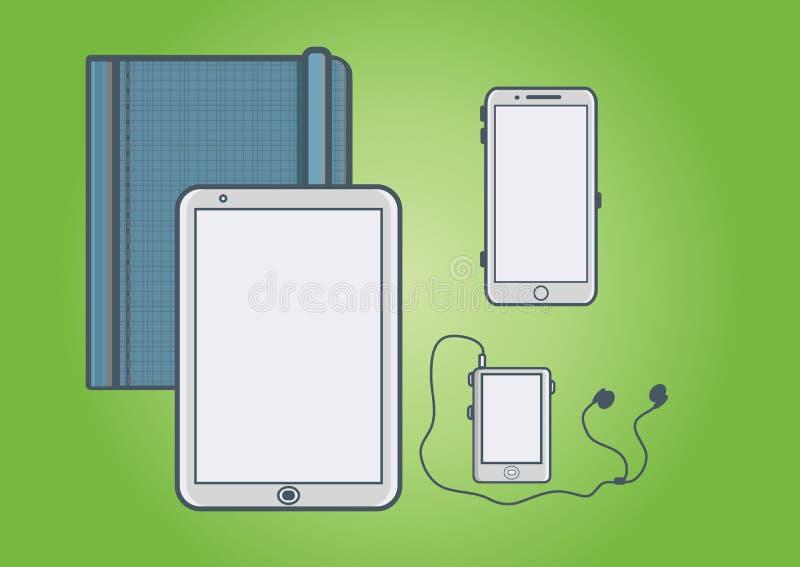 Telefoon, tablet, speler stock afbeeldingen