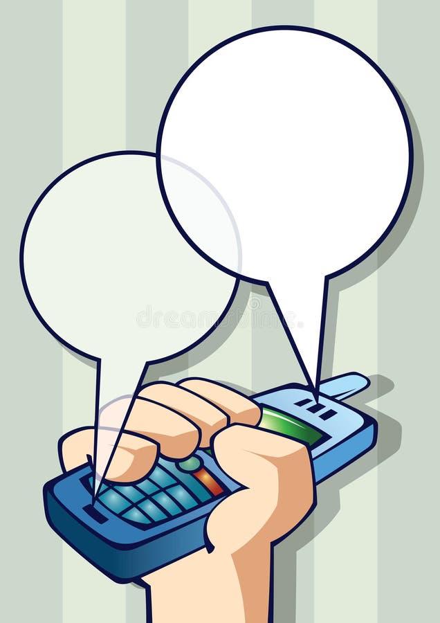 Telefoon ter beschikking met textframes royalty-vrije illustratie