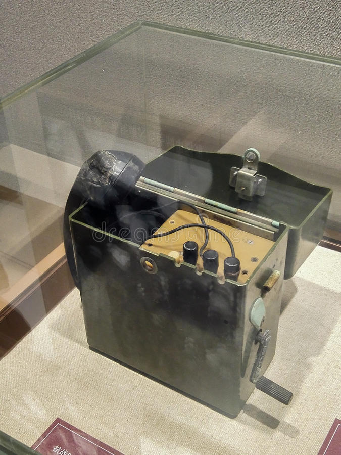 Telefoon tijdens anti-Japanse Oorlog stock afbeelding