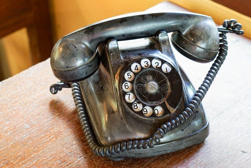 Telefoon in uitstekende stijl royalty-vrije stock afbeeldingen