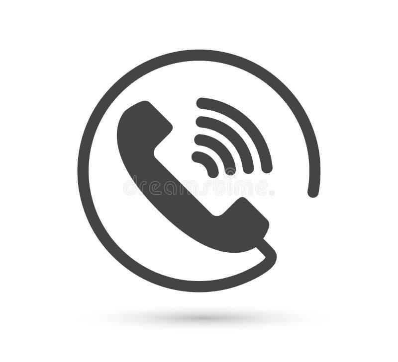 Telefoon vectorpictogram vector vlak stijlembleem Zaktelefoon met schaduwillustratie Het gemakkelijke uitgeven van illustratie Sm stock illustratie