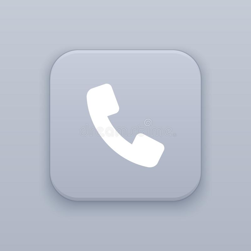 Telefoon, vraagknoop, beste vector stock illustratie