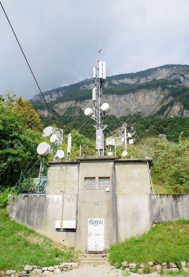 Telefoonantennes stock afbeelding