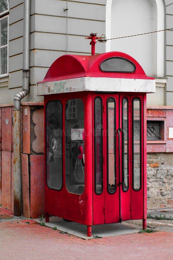 Telefooncel - Rode telefooncel royalty-vrije stock foto