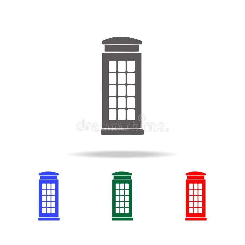 telefooncel van het pictogram van Engeland Elementen van de multi gekleurde pictogrammen van het Verenigd Koninkrijk Grafisch het vector illustratie