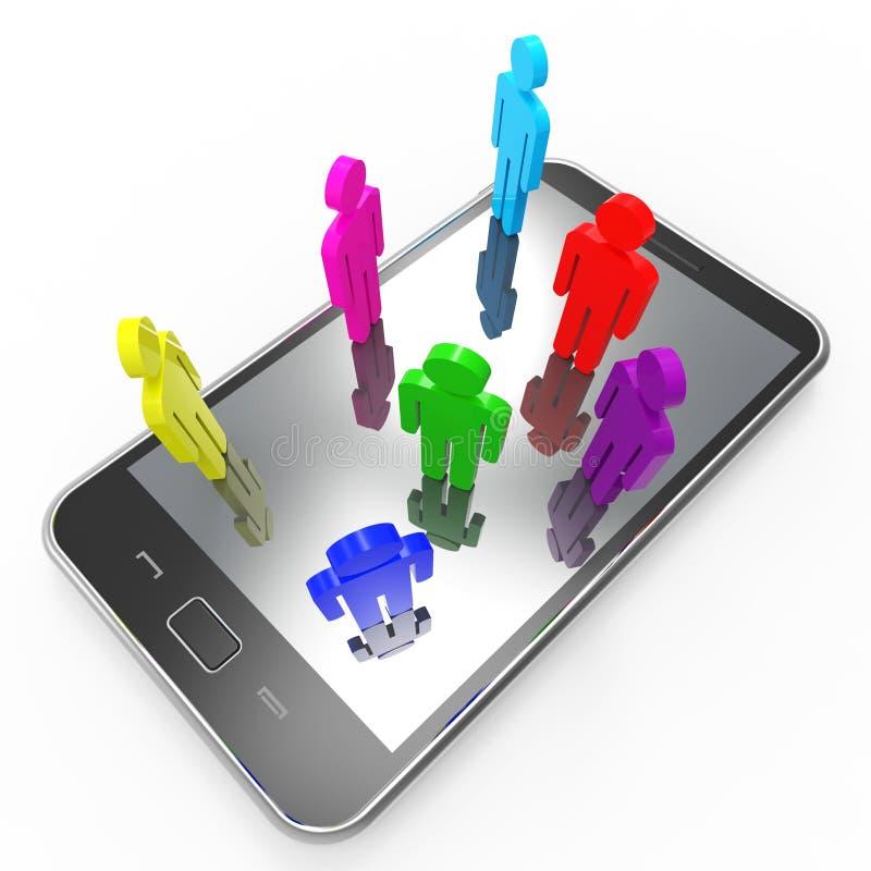 TelefoonCommunicatiemiddelen Globaal Mededelingen en Praatje stock illustratie