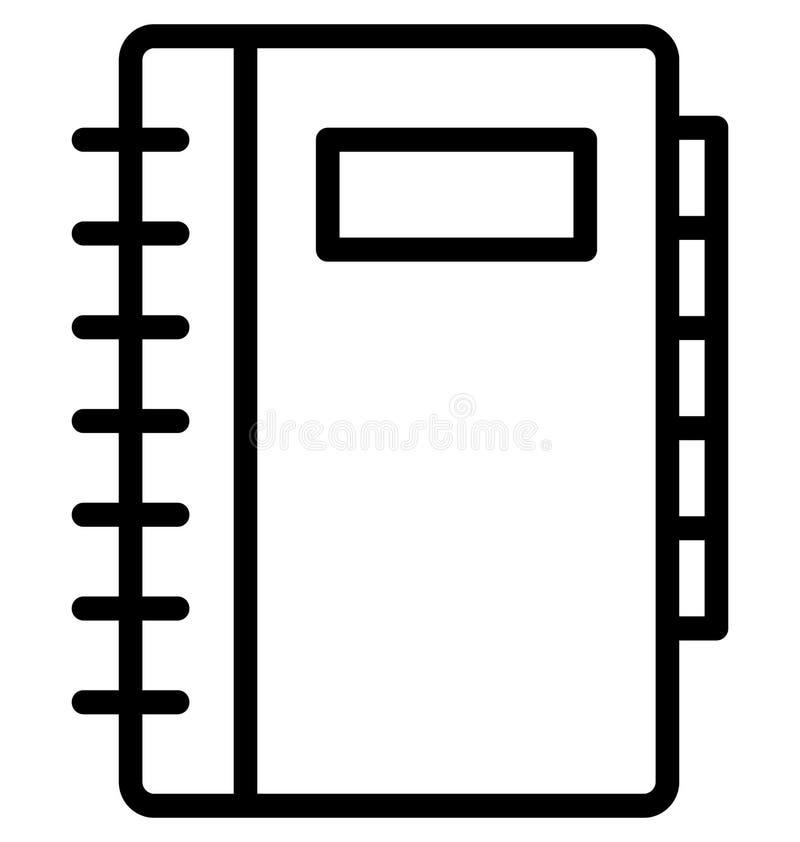 Telefoonfolder, Gele gidslijn Geïsoleerd Vectorpictogram dat gemakkelijk kan worden gewijzigd of uitgeven royalty-vrije illustratie
