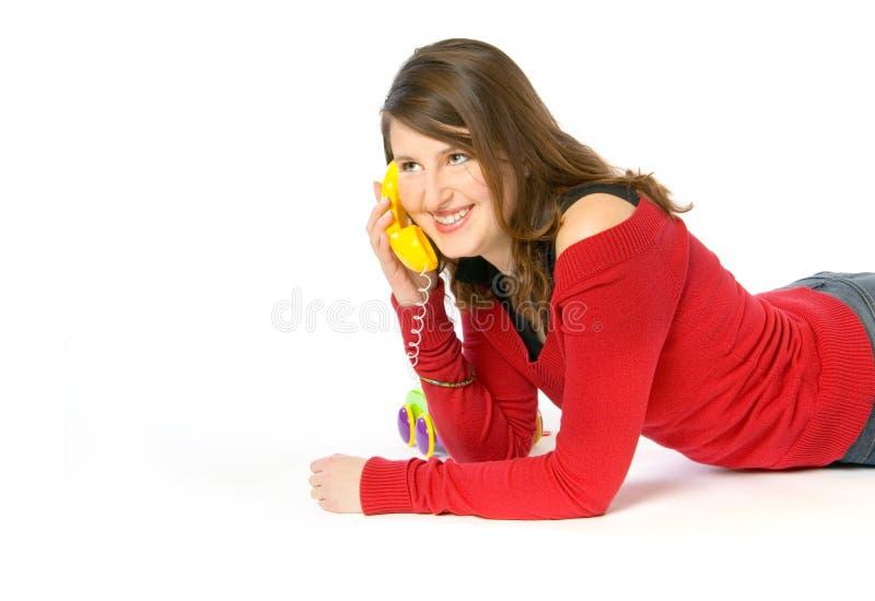 Telefoongesprek royalty-vrije stock afbeelding