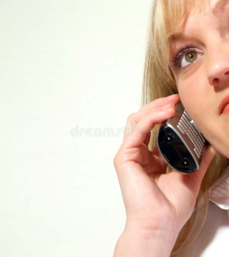 Telefoongesprek royalty-vrije stock foto