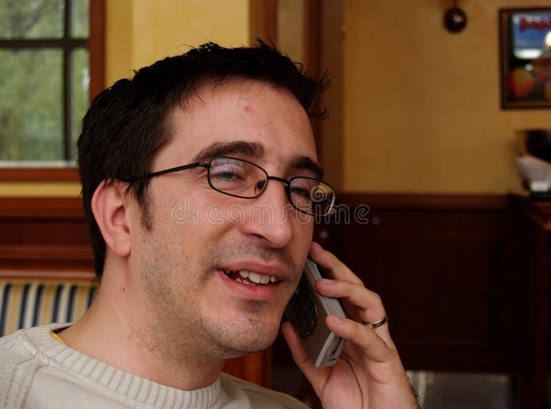 Telefoongesprek stock fotografie