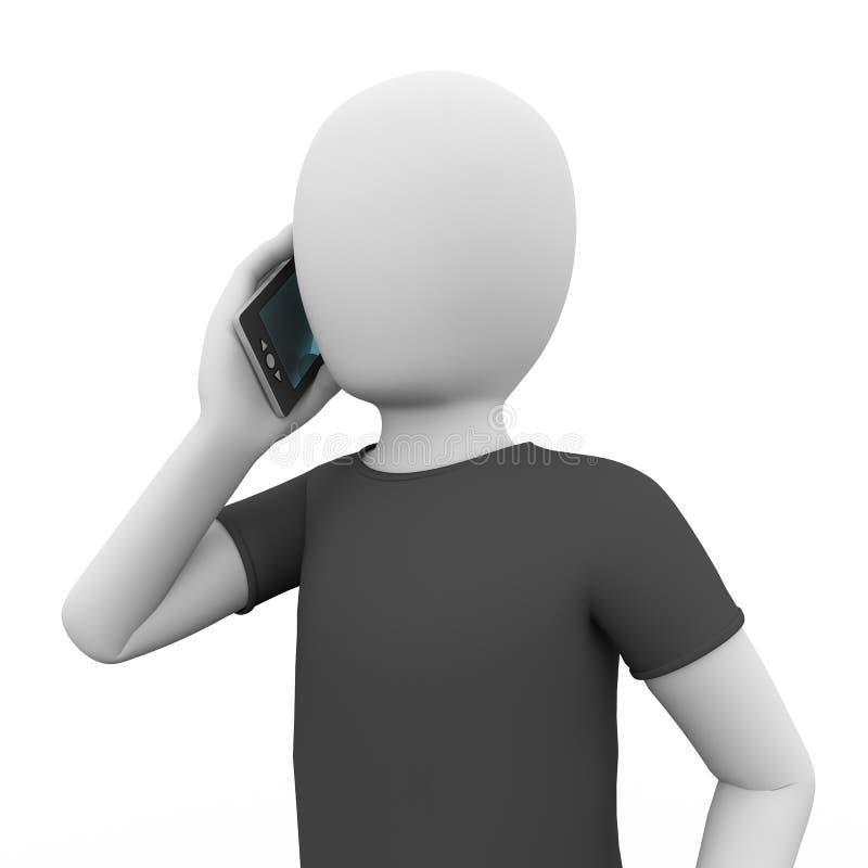 Telefoongesprek vector illustratie