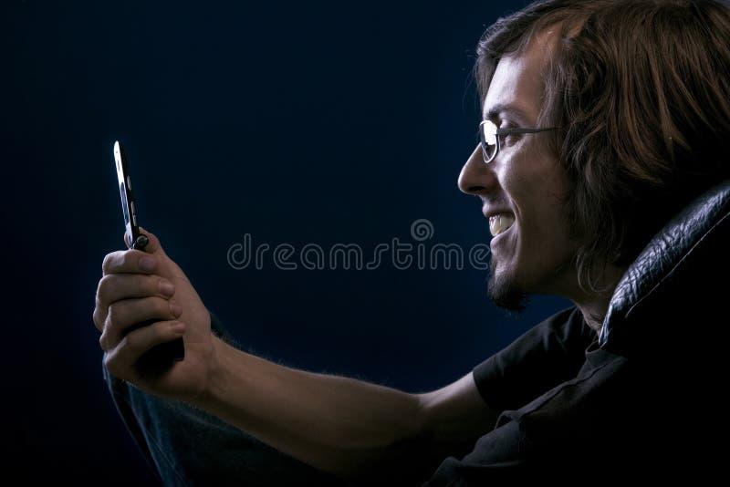 Telefoongesprek stock foto