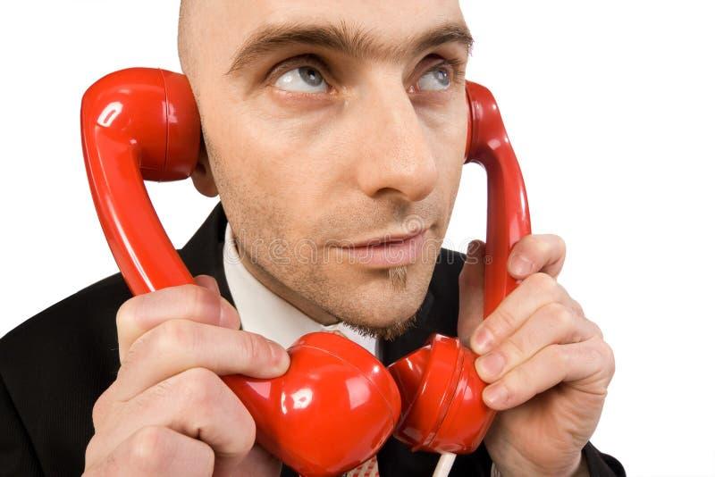 Telefoongesprekken royalty-vrije stock afbeeldingen